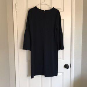 Banana Republic Dresses - Banana Republic navy shift dress w/ bell sleeves M